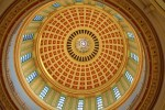Oklahoma state capitol building ceiling symmetrical shot
