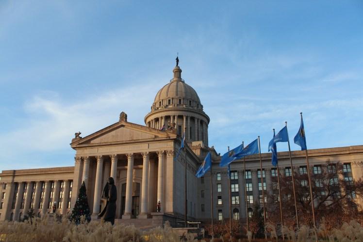 Oklahoma state capitol building panorama