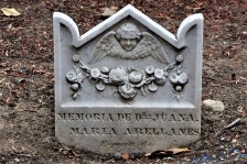 """Karana"" Grave Marker at Santa Barbara Mission"