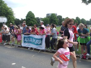 Me and my daughter in a summer fun run