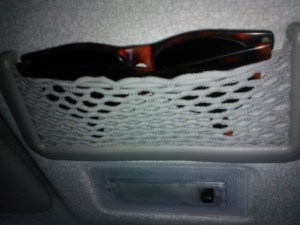 sunglasses stored in car pocket