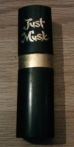 A bottle of Just Musk Perfume from the early 1980s