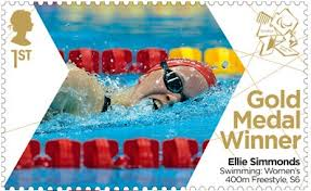 British stamp of London 2012 Olympic gold medallist Ellie Simmonds