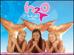 Image from the hit teen TV series, H2O, about mermaids
