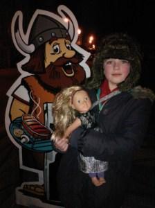 Viking sign outside Das Heisses Stein restaurant