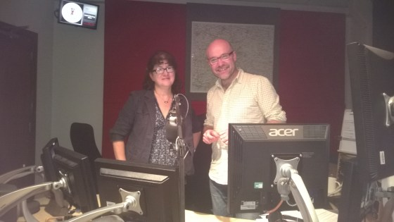 Photo of Debbie Young and Chris Baxter in the studio