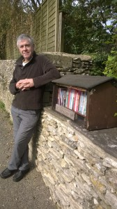 Photo of Gordon with the finished Library