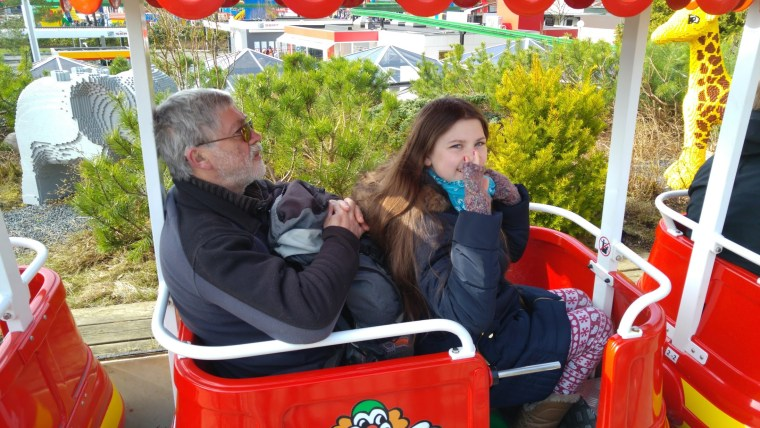 Gordon and Laura on the Legoland safari train