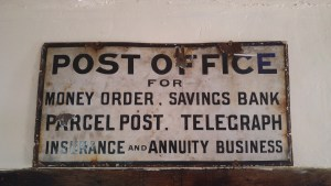 Photo of antique post office sign
