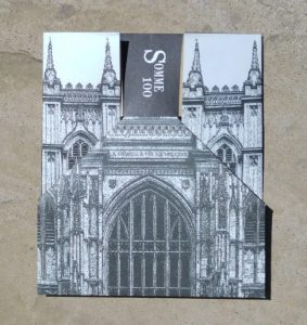 Invitation card in shape of Westminster Abbey