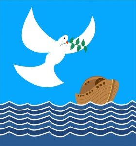 graphic of noah's ark with dove and olive branch