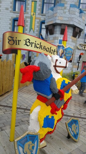 Lego model of knight on horseback