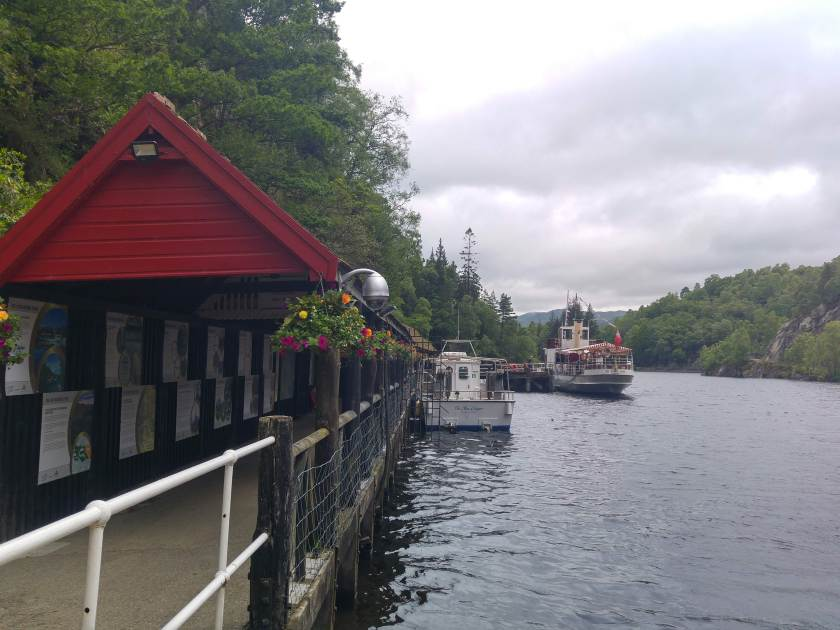 Photo of SS Sir Walter Scott ready to depart for a cruise on Loch Katrine