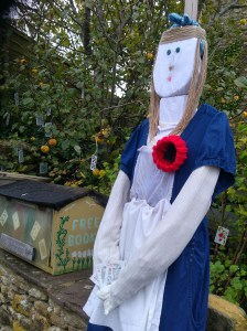 photo of Alice in Wonderland scarecrown