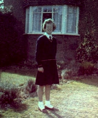 photo of Alison in school uniform aged 11