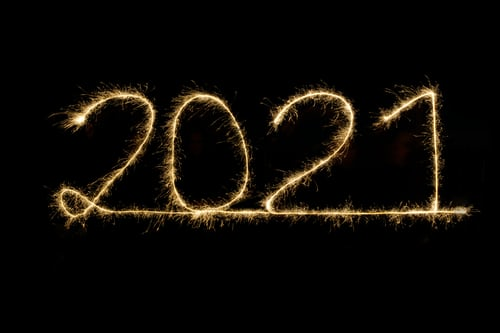 firework of the numbers 2021