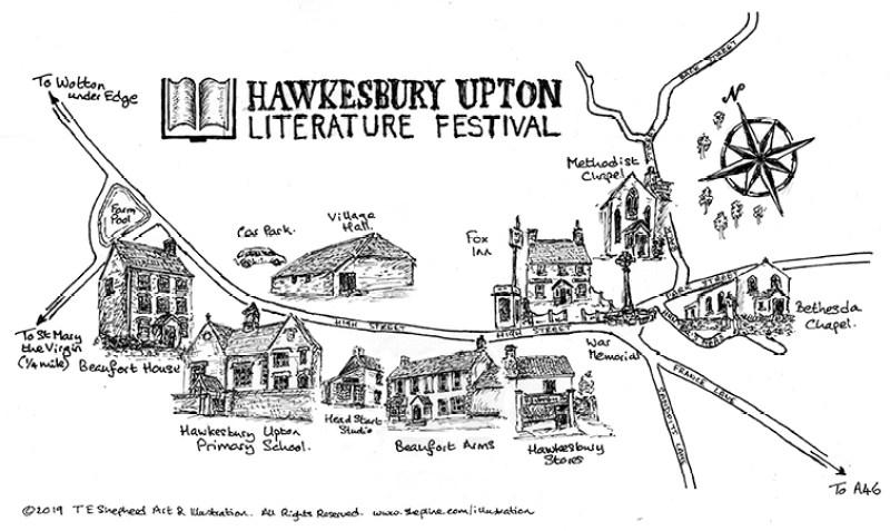 map of Hawkesbury Upton