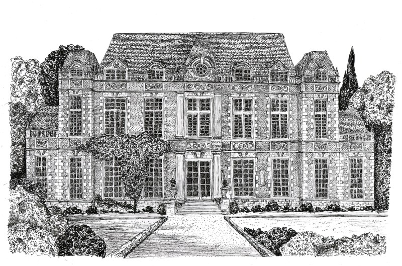 drawing of St Bride's School
