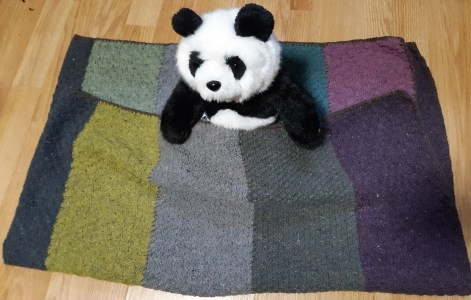 photo of lockdown blanket with toy panda