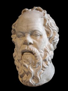 marble bust of Socrates