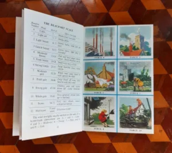 pages from the Ladybird Book of the Weather on the Beaufort Scale
