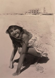 photo of Carol Cooper on the beach at Alexandria