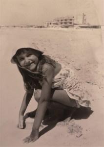 photo of Carol Cooper on the beach at Alexandria