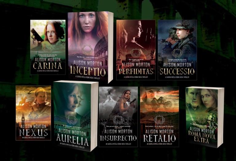 array of Roma Nova book covers