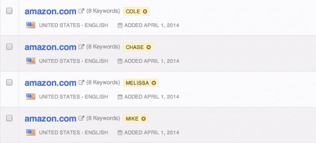 Split keyword lists