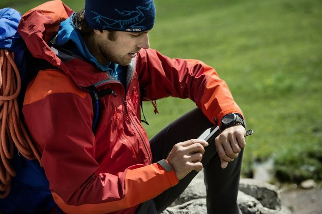 Image result for hiker wearing ambit3 suunto