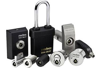 Range of Medeco XT locks and keys