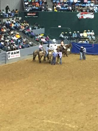 Cowboys participating in Mississippi Black Rodeo. Photo Courtesy of Tamoria Harvey