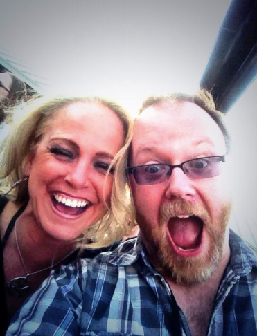 Moi with the AWESOME Chuck Wendig...