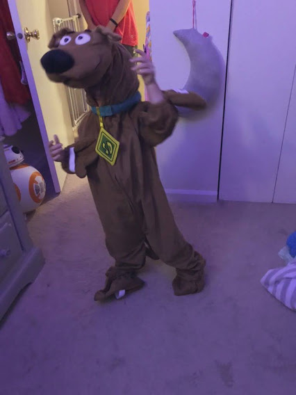 K. Williams child dressed as Scooby-Doo