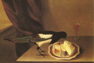 Magpie eating cake by Rubens Peale