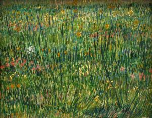 Patch of grass by Vincent van Gogh