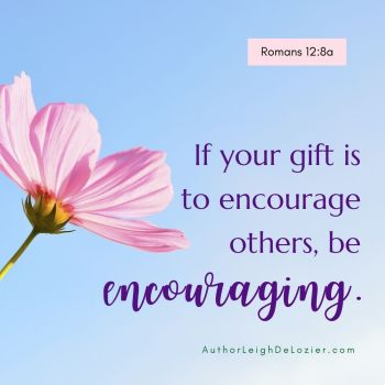be encouraging to others