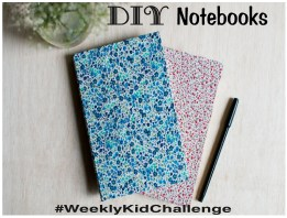 Make notebooks for others to leave messages in! #WeeklyKidChallenge