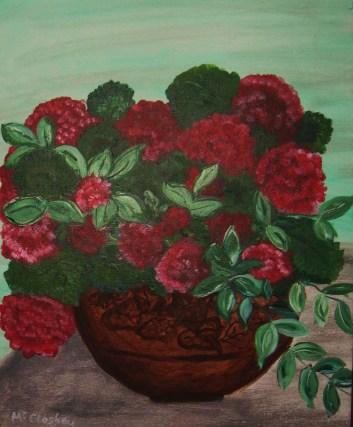 Painting: Red Geranium
