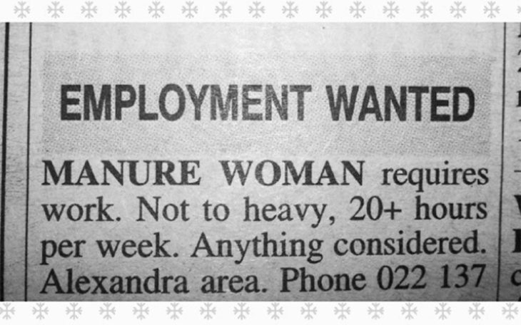 employment wanted typos