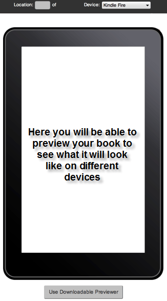 KDP Kindle Fire Preview Screen