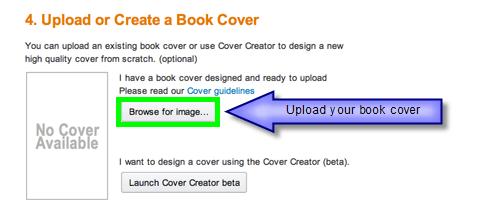 KDP Upload Book Cover