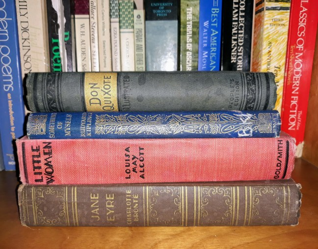 vintage classic books from author s.m. stevens bookshelf