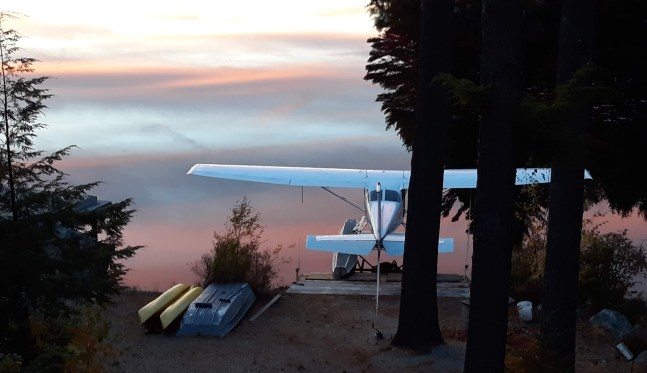 seaplane at cloudy waters edge