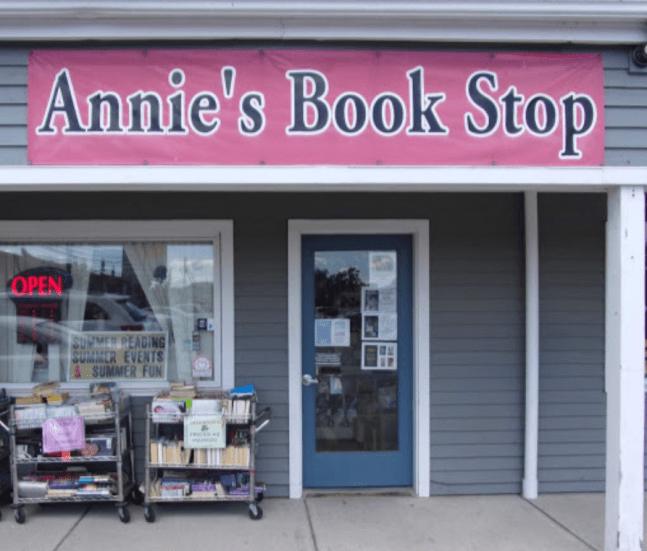 annie's book stop of worcester bookstore front