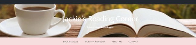 screenshot masthead book review blog