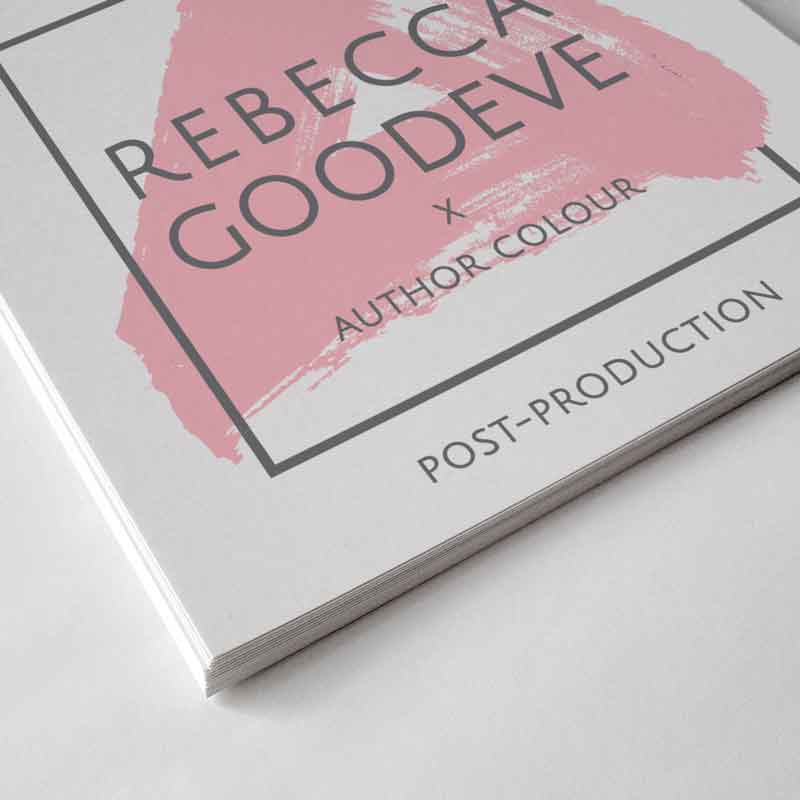 DESIGN SOLUTIONS AUTHOR STUDIOS REBECCA GOODEVE BRANDING