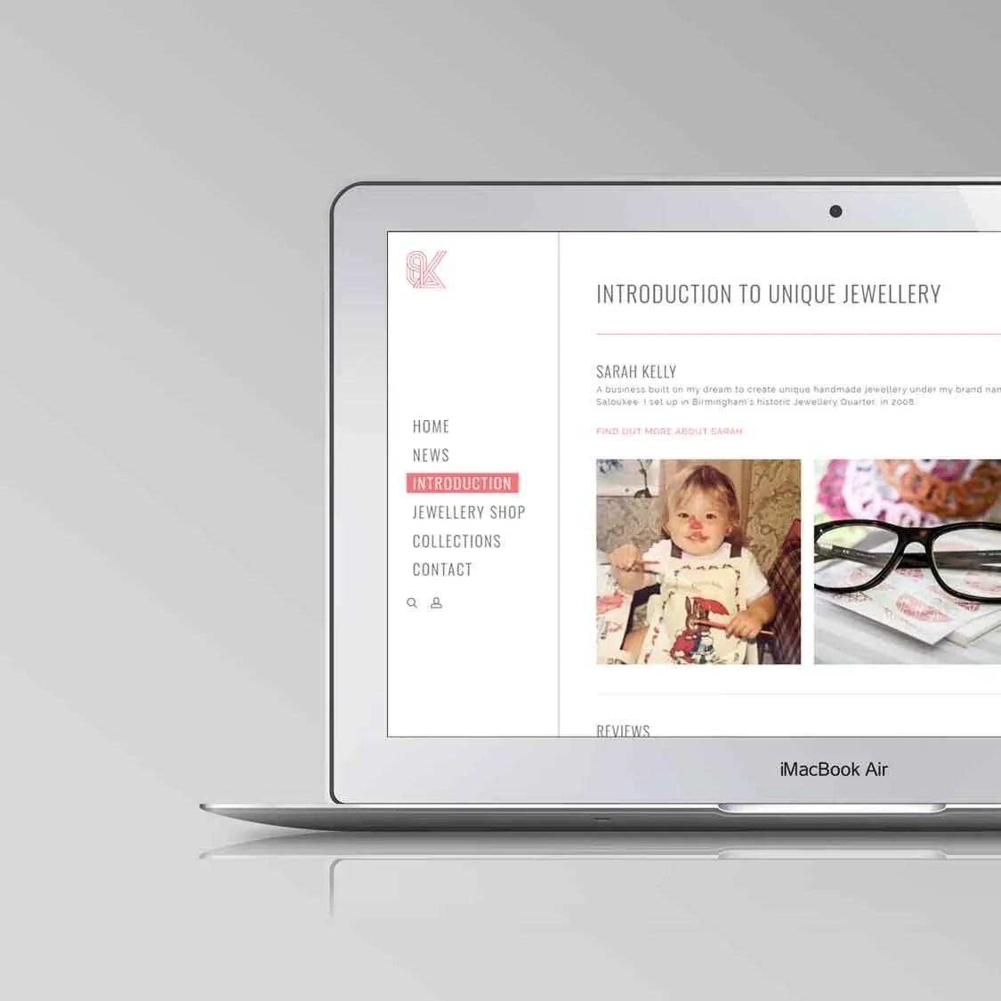 how to design a website macbook air case study saloukee author studios