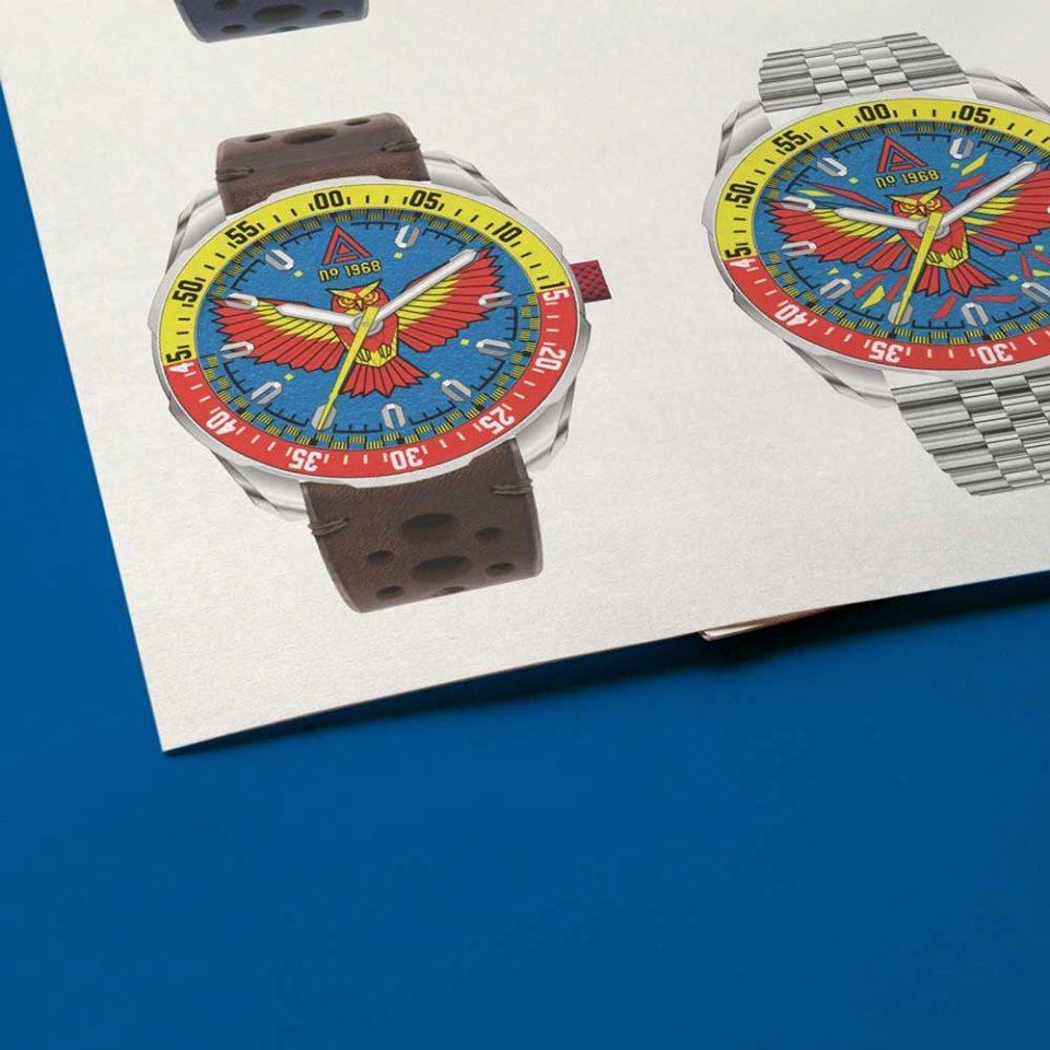 marketing campaign for product launch wt author studios custom build watches