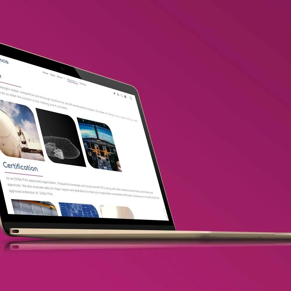 corporate website design inspiration frequncia ltd author studios imacbook